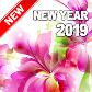 Happy New Year 2019 (Flowers)