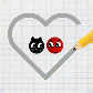 Love balls : ladybug and cat