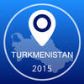 Turkmenistan Offline Map + City Guide Navigator, Attractions and Transports